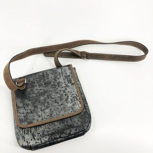 Consuela Silver Metalic Crossbody Leather Strap